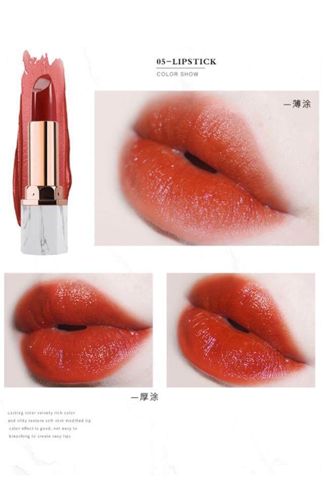 【5 # Busuk Tomat Color】it Adalah Marmer Putih Micro Beludru Lipstik Pelembab Lipstik Pelembab Putih Tomat Orange-Brown Tone-Intl