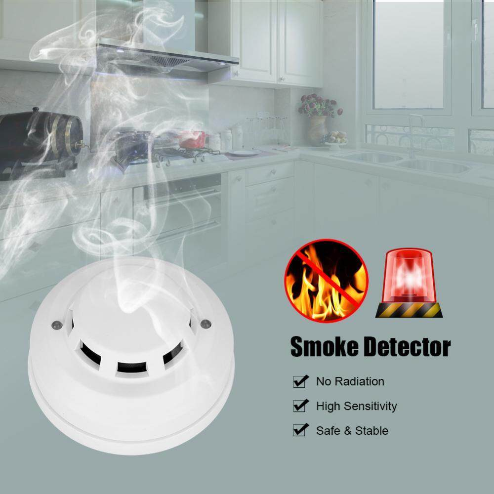 NC / NO Smoke Detector High Sensitive Photoelectric Alarm Sensor Home Office Hotel Safety - intl