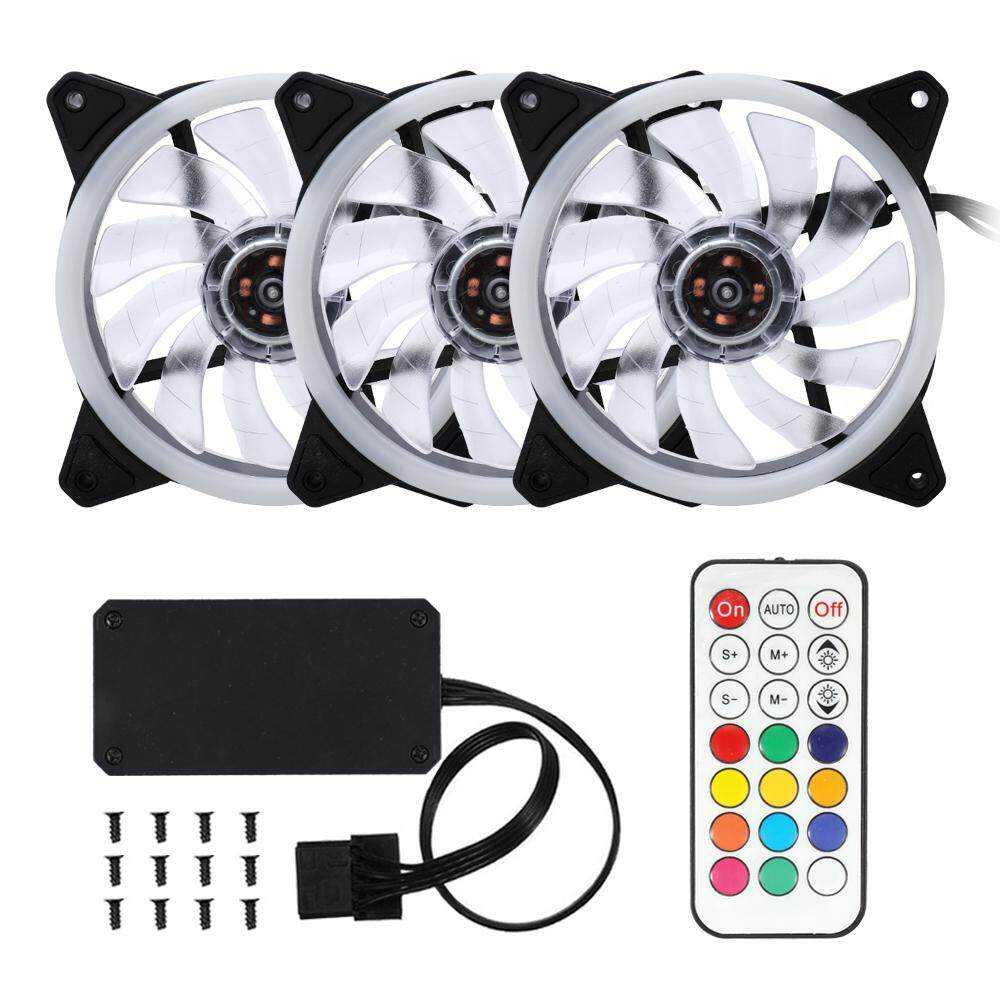 Computer Case PC Cooling Fan Adjustable RGB Light Fan Cooler for CPU with Remote Control