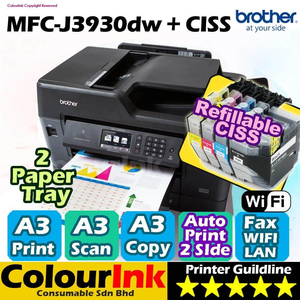 Features Canon Pixma Mg3670 Print Scan Copy Duplex Wifi With Ciss Inkjet Printer G3010 Brother Mfc J3930dw A3 Network Refillable