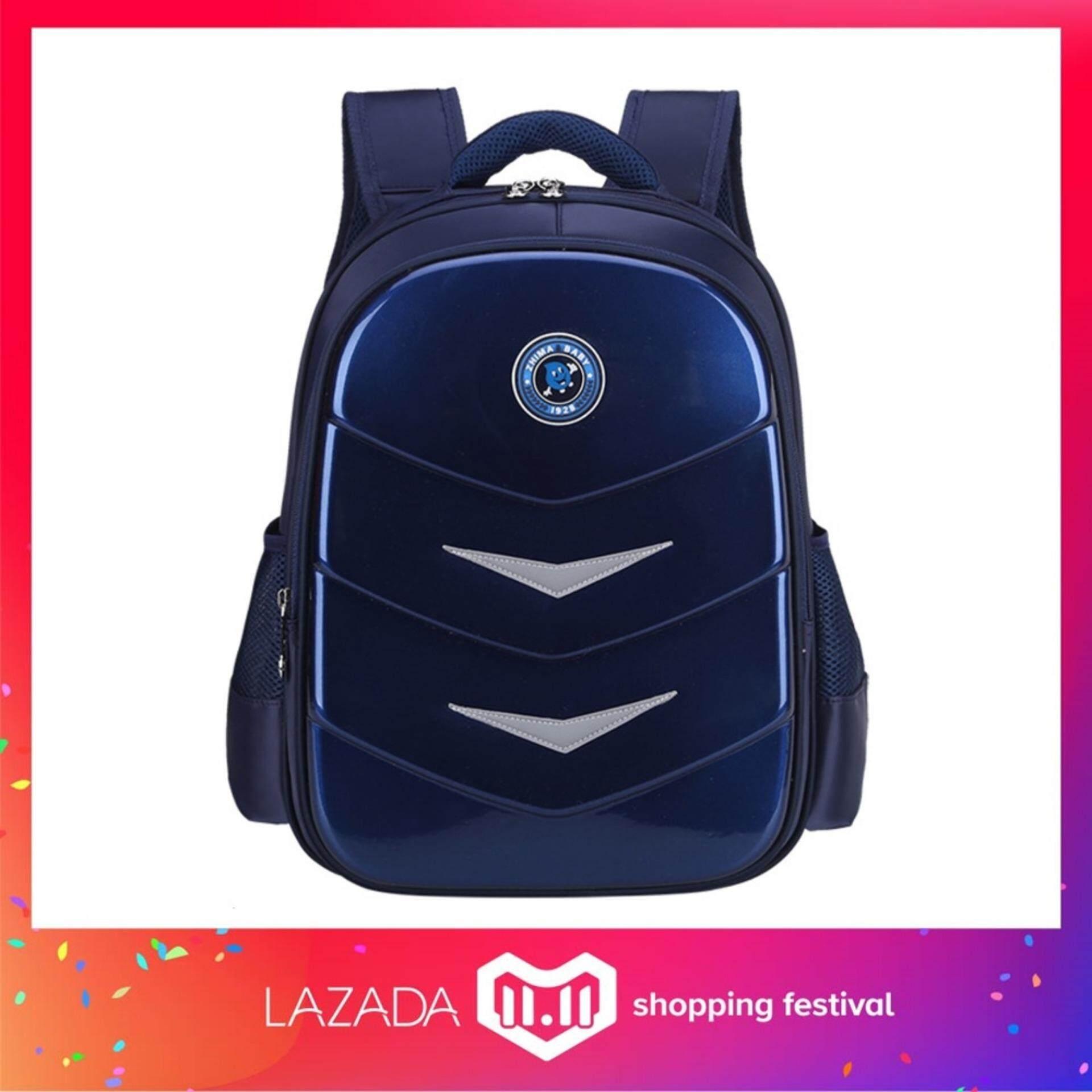【TEEMI】Hard Shell Bright Primary Secondary Nylon Water Resistant Orthopedic School Bag Kids Children Backpack