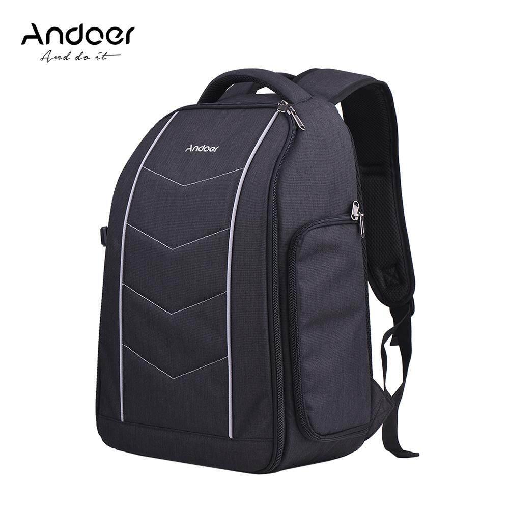 Andoer Profesional 600D Bahan Kain Tas Ransel Kamera untuk 2 DSLR SLR 6 Lensa Tripod Blitz dan Aksesoris internasional