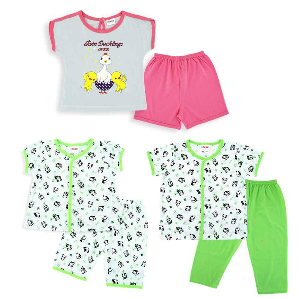 4e2d7bba075 OKBB Budget Value Pack For Baby Girls Clothing BS56S57S60 (Free Gift Box)