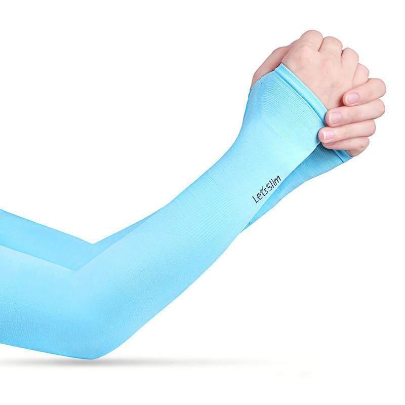 RHS Online Lengan Pria Wanita Manset Pendingin Perlindungan Matahari UV Lengan Tangan untuk Bersepeda Mengemudi Olahraga Luar Ruangan Golf-Intl