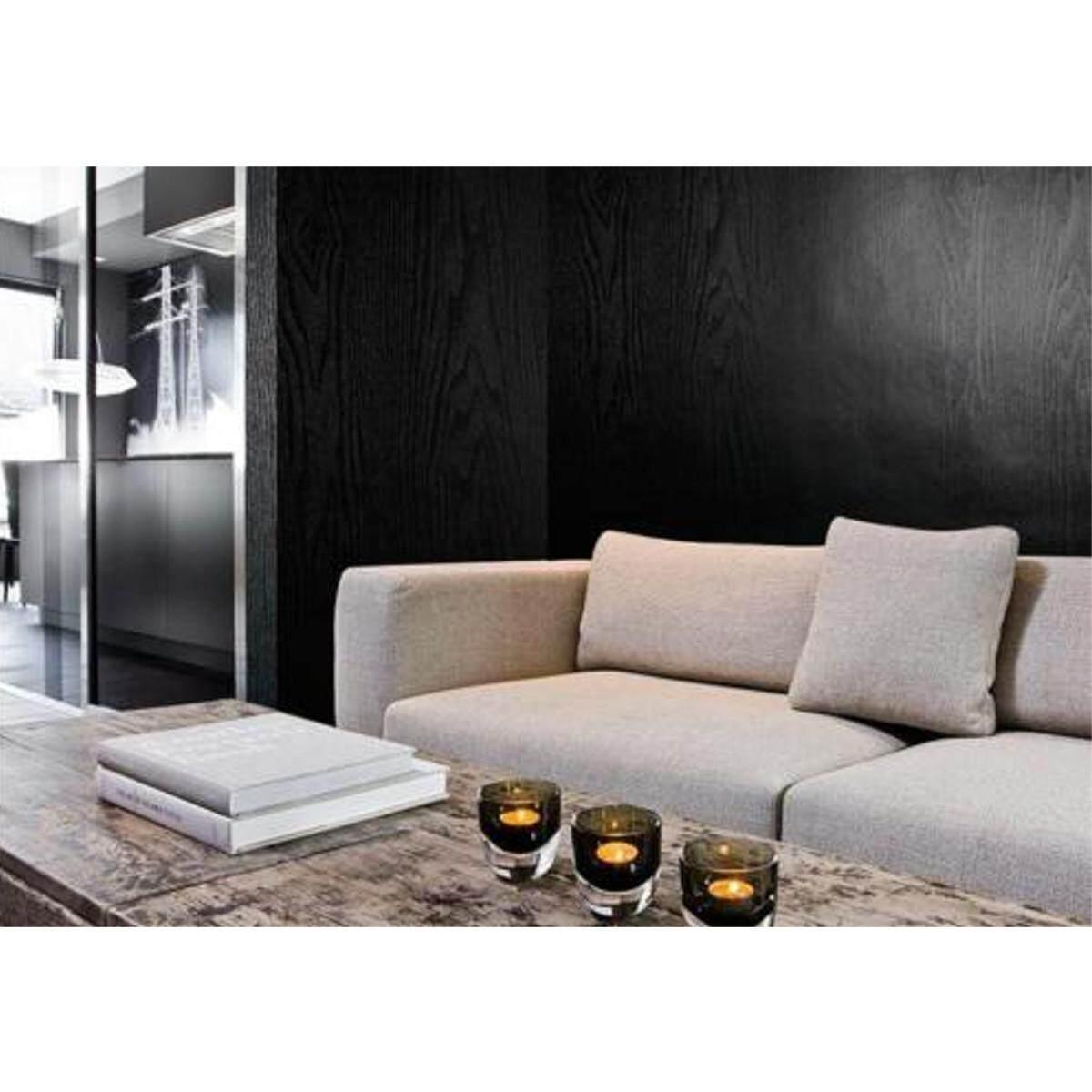 61cm*5m Black Wood Looking Textured Self Adhesive Decor Contact Paper Vinyl Shelf Liner