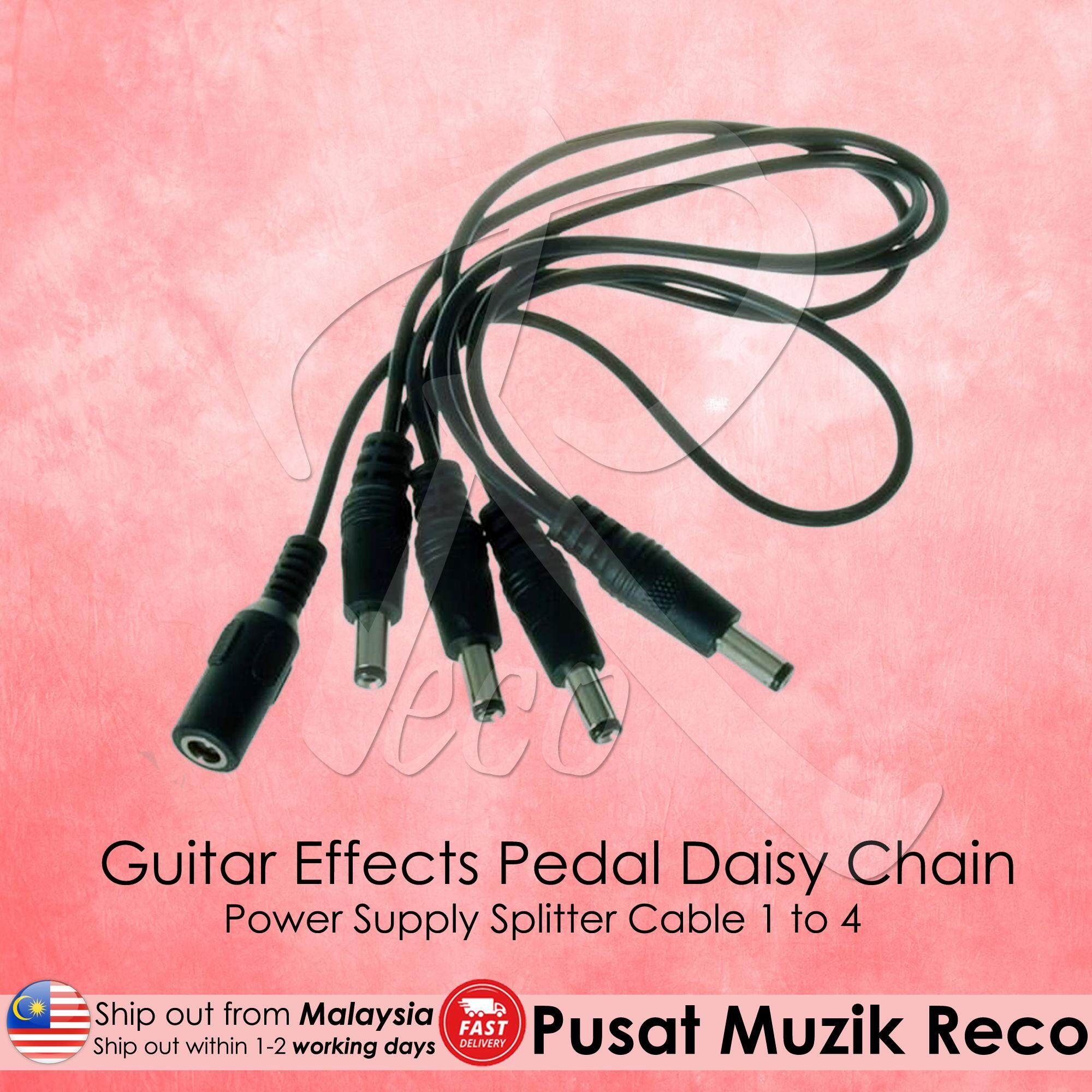 Fitur Vitoos 3 Ways Electrode Daisy Chain Harness Cable Copper Wire Guitar Effects Pedal Power Supply Splitter 1 To 4