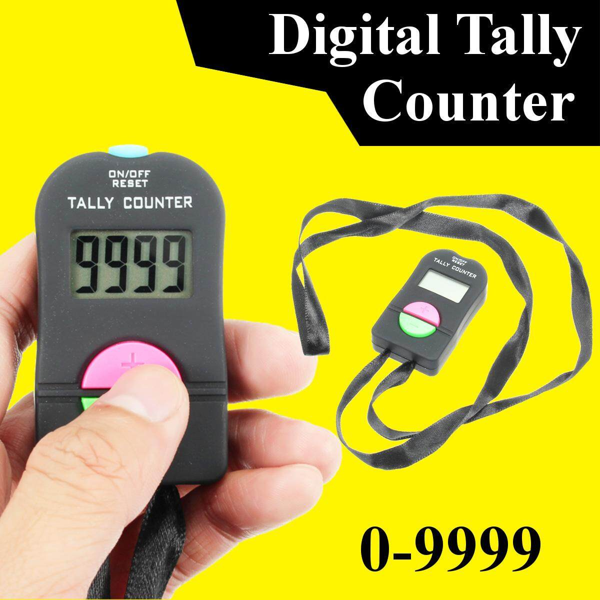 Hình ảnh Digital LCD Electronic Finger Hand Manual Ring ON/OFF RESET Tally Counter Black - intl