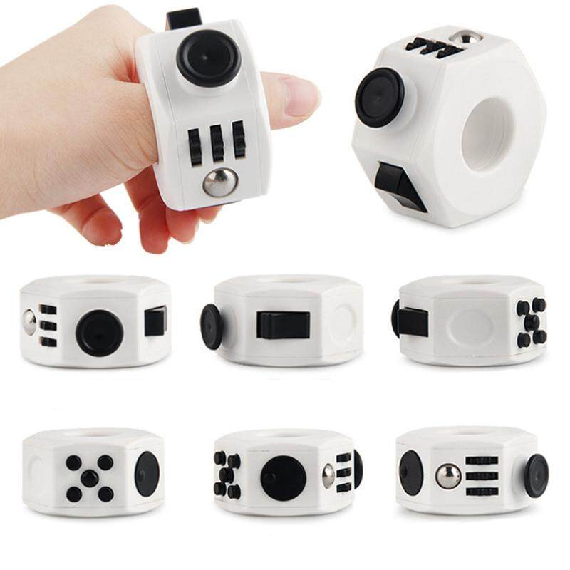 Mini Magic Fun Fidget Cube Stress Toy Dice Relieve Anxiety Boredom Magic Square Cube Hand Massager Remain Calm Anti Irritability Fidget Rings For Adults By La Chilly.