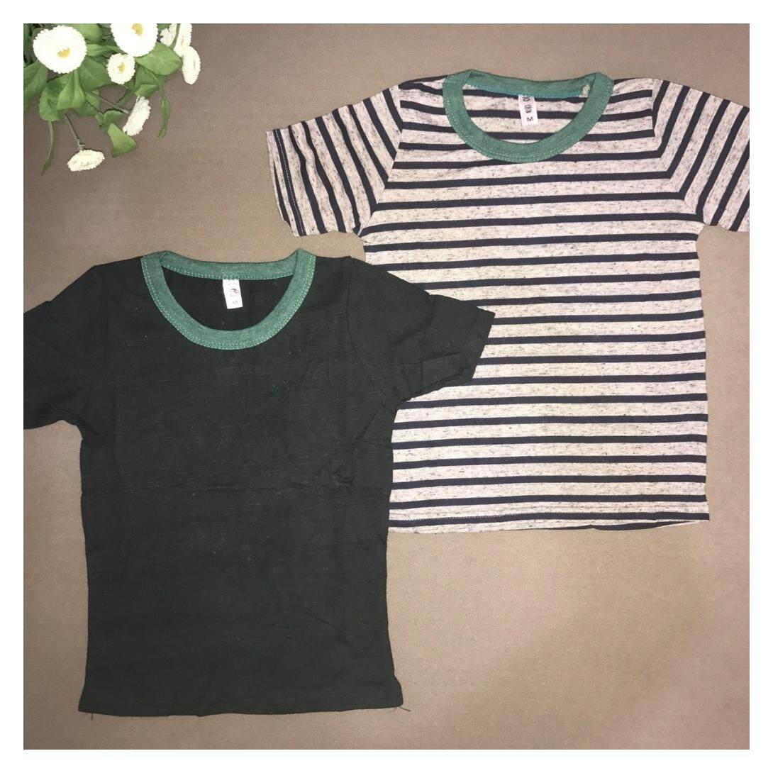 Summer children's clothing New style boys short-sleeved t-shirt children's cotton striped Print Top