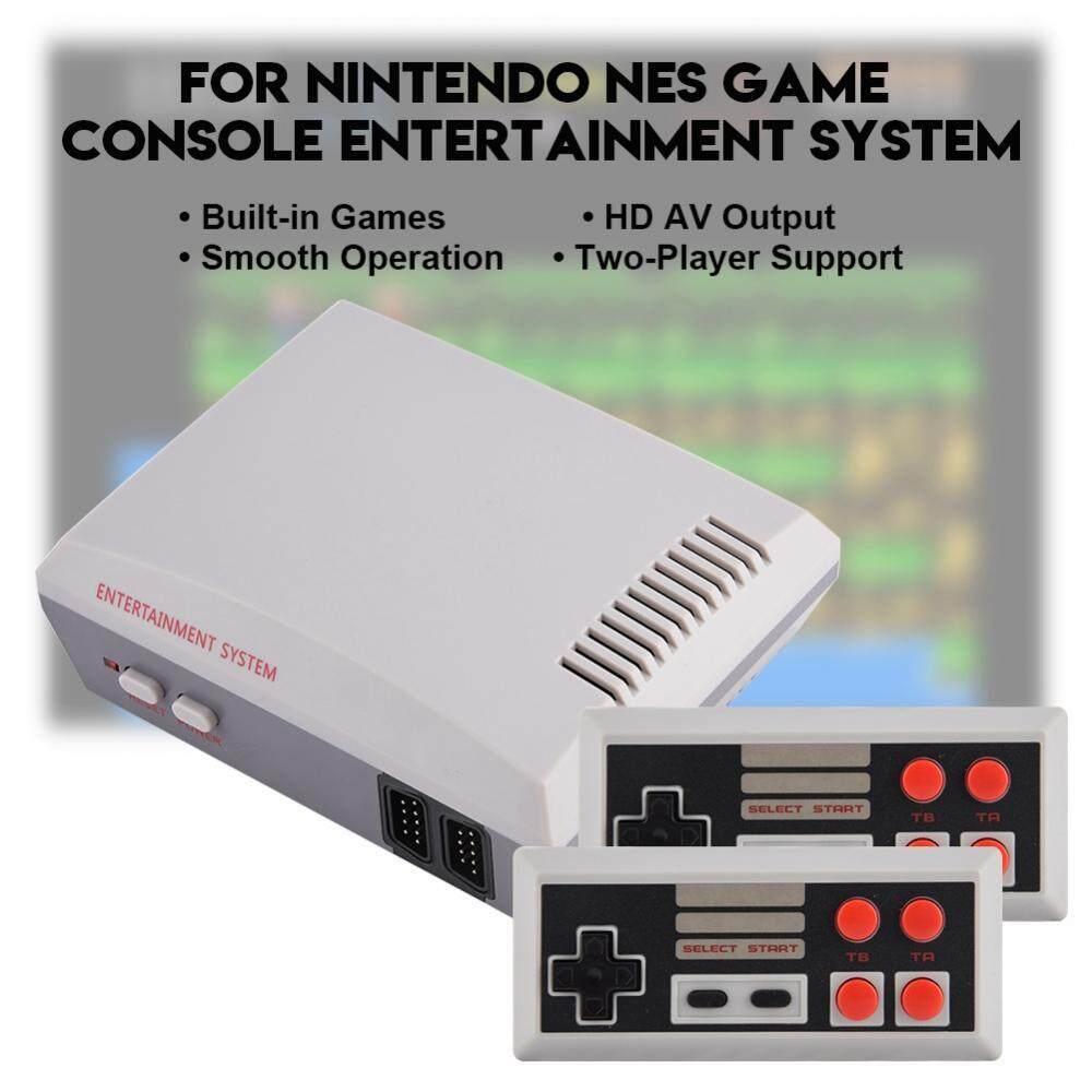 Hình ảnh Justgogo NES Game Console Entertainment System HD AV Output Dual Joysticks For NTD US Plug