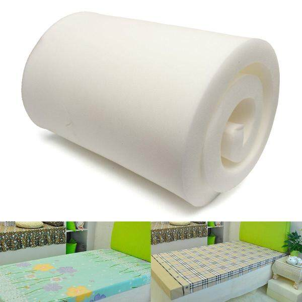 White High Density Seat Rubber Cushion Foam Upholstery Replacement 7.5X60X200CM
