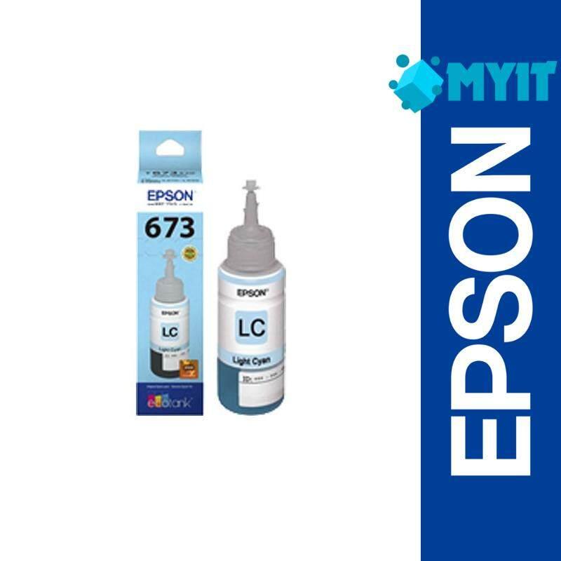 Epson Original T673 Light Cyan Color Ink Bottle Refill Supply for L800 L805 L810 L850 L1800 (T6735)