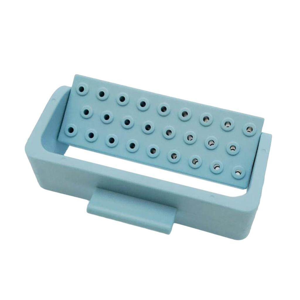 Miracle Shining Teeth Tool 26 Holes Endo Bur Files Block Holder Autoclave Box Light Blue