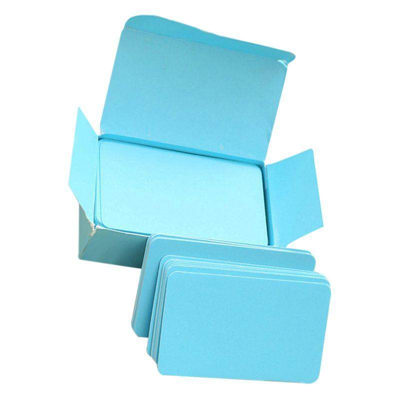 Blank Handwritten Paper Message Card Business Thank You Cards for Memo Wedding Party Greeting blue ...