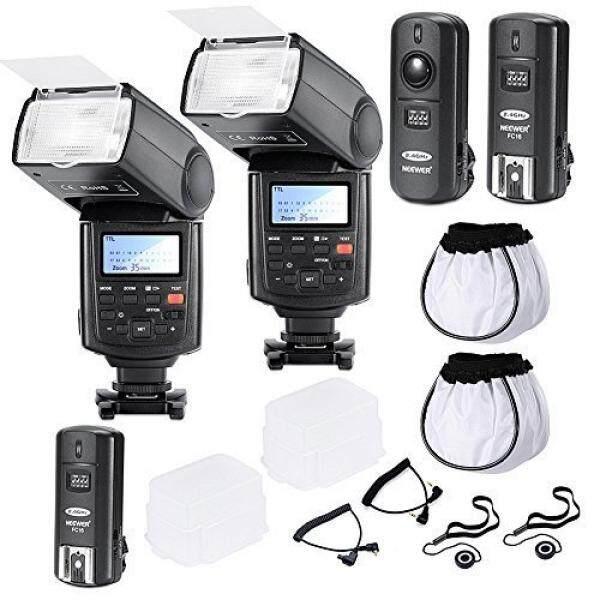 Neewer Professional Speedlite E-TTLHigh-Speed Sync Flash Kit for CANON Rebel T4i T3i T3 XS T2i T1i Xsi Xti, EOS 650D 600D 1100D 1000D 550D 500D 450D 400D 5D Mark III 5D Mark II 7D 60D 50D 40D 30D DSLR Cameras, Includes: 2 Neewer Pro E-TTL Auto-Focus