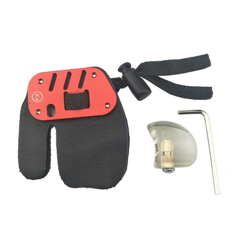 Bán Leather A*chery Finger Guard Protector Glove Tab Release For Hunting Recurve Compound Bow Longbow