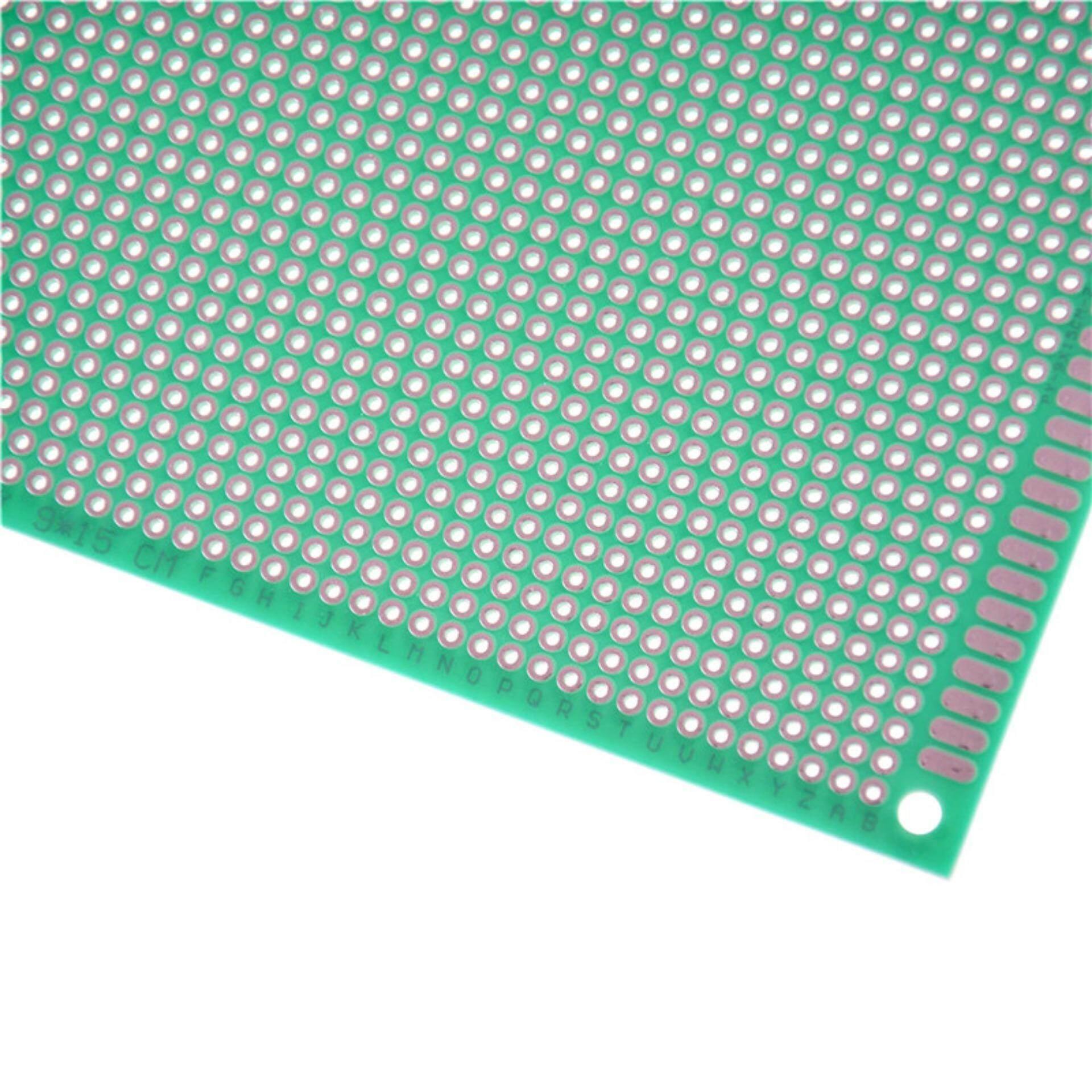 Fitur 915cm Fiber Green Single Side Prototype Circuit Tinned 7cm Diy Paper Pcb Universal Experiment Matrix Board Through Hole