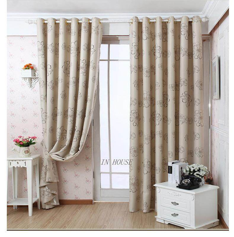 [OrangeHome] 150*250 CM (1 pc) Blackout Curtain Drape Ring/Eyelet/Punch Window Room Bedroom Balcony Multicolor A01-DH - intl