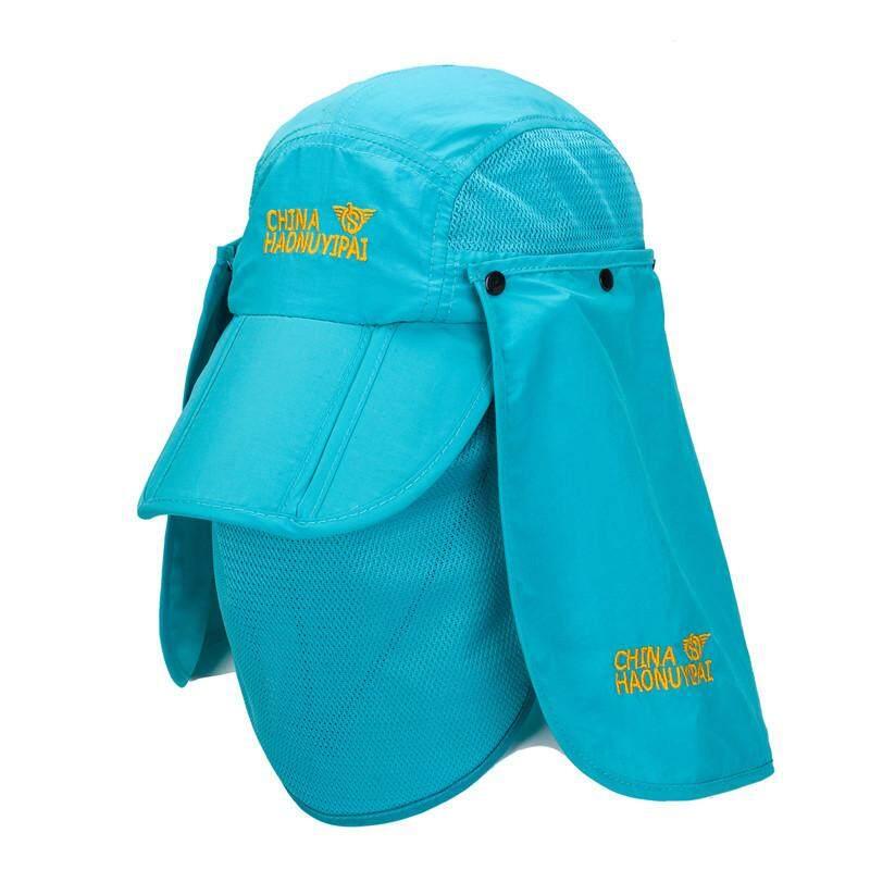 98f74300 Mens Women Foldable Mesh Breathable Mask Baseball Hat Outdoor Climbing  Anti-UV Visor Fishing Caps