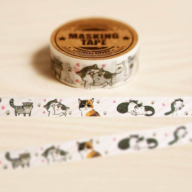 Mua 2rolls 1.5cm*7m Lovely Cat Washi Tape DIY Decoration Scrapbooking Planner Masking Tape Adhesive Tape Kawaii Stationery - intl