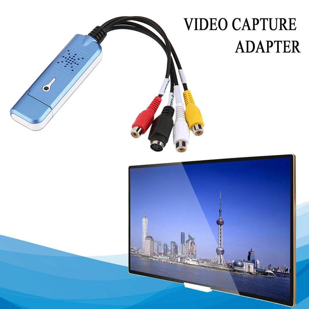 Luwentian Portable USB 2.0 Easycap Video Audio Capture Card Adapter VHS DC60 DVD Converter Composite RCA Blue - intl