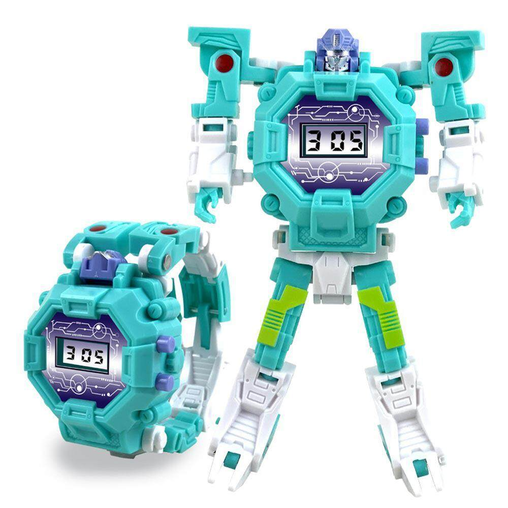 Onlook 2 In 1 Robot Watch Transforming Toys Watch Digital Electric Watch Creative Educaional Toys Manual Deformation Robot Gift For Kids By Onlook.
