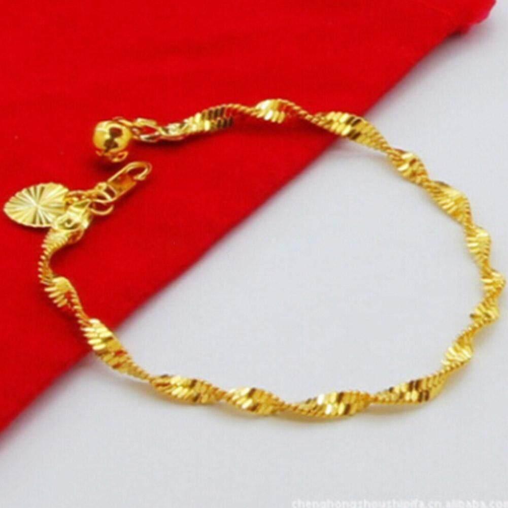 Gelang Korea Scrub Perak Bracelet Perhiasan Wanita Imitasi Anti Source · Kuhong Fashion Wanita Gold Berlapis