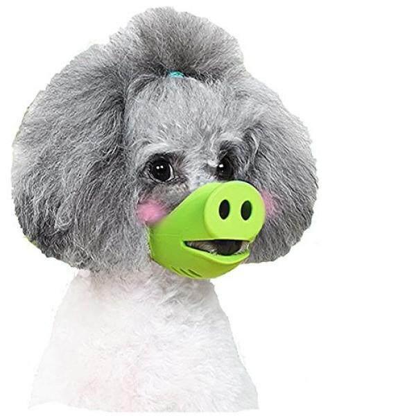 Imichelle Antigigit Silikon Anjing Masker Moncong untuk Menggigit Mengunyah, anjing Anti Gigitan/Barking Moncong