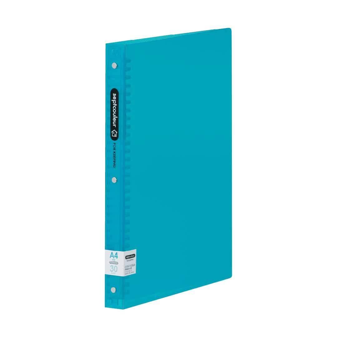 SEPT COULEUR A4, 30 Holes, 90 Sheets, 30 Spine Width -Light Blue
