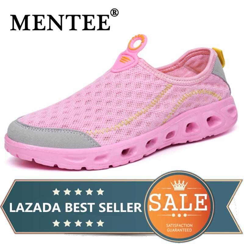 Mentee Ukuran 35-44 Pria dan Wanita Luar Ruangan Sneakers Pasangan Air Sepatu Trekking Sepatu