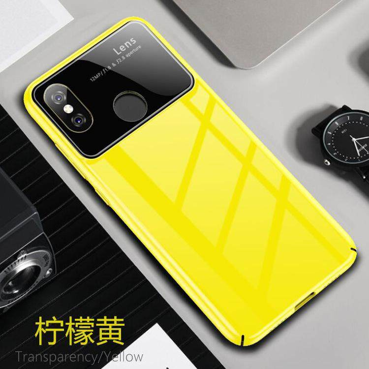 Untuk Xiaomi 8 Case Efek Cermin Kaca Antigores + PC Wadah