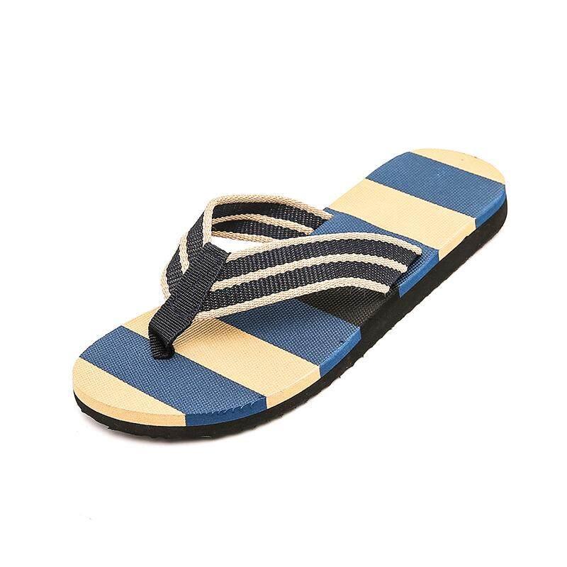 Langit Biru Musim Panas Baru Pria Sandal Jepit Pantai Rumah Harian Street Sandal Anak Laki-laki Sandal Ukuran Plus 39-44-Intl