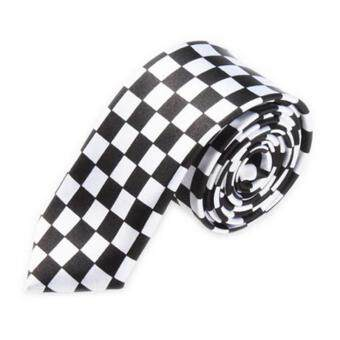Pencarian Termurah Men Fashion Casual Skinny Slim Narrow Tie Formal Wedding Party Necktie, #26 (Black+White Square Plaid) sale - Hanya Rp35.335