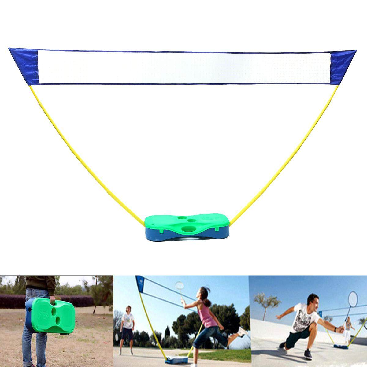 3in1 Outdoor Portable Badminton Set Tennis Volleyball Net With Stand Battledore By Glimmer.