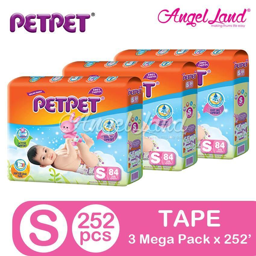 PETPET Tape Diaper Mega Pack S84/M76/L64/XL52 (3 Packs)