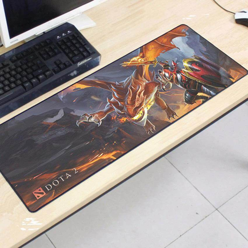 Dota2 Gaming Mat Non-slip Anti Fray Stitching Beautiful Mouse Pad 80 x 30x 0.2cm