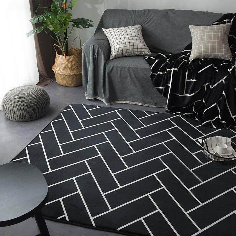 Anti-slip Absorbent Bathroom Entrance Doormat Exquisite Dustproof Kitchen Floor Mat Living Room Bedroom Area Rug 45x75cm - intl
