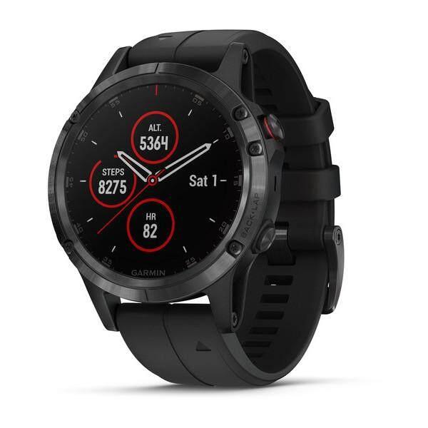 ลพบุรี Garmin Fenix 5 Plus Sapphire Multisport Premium นาฬิกาจีพีเอสสีดำซิลิโคนสีดำ