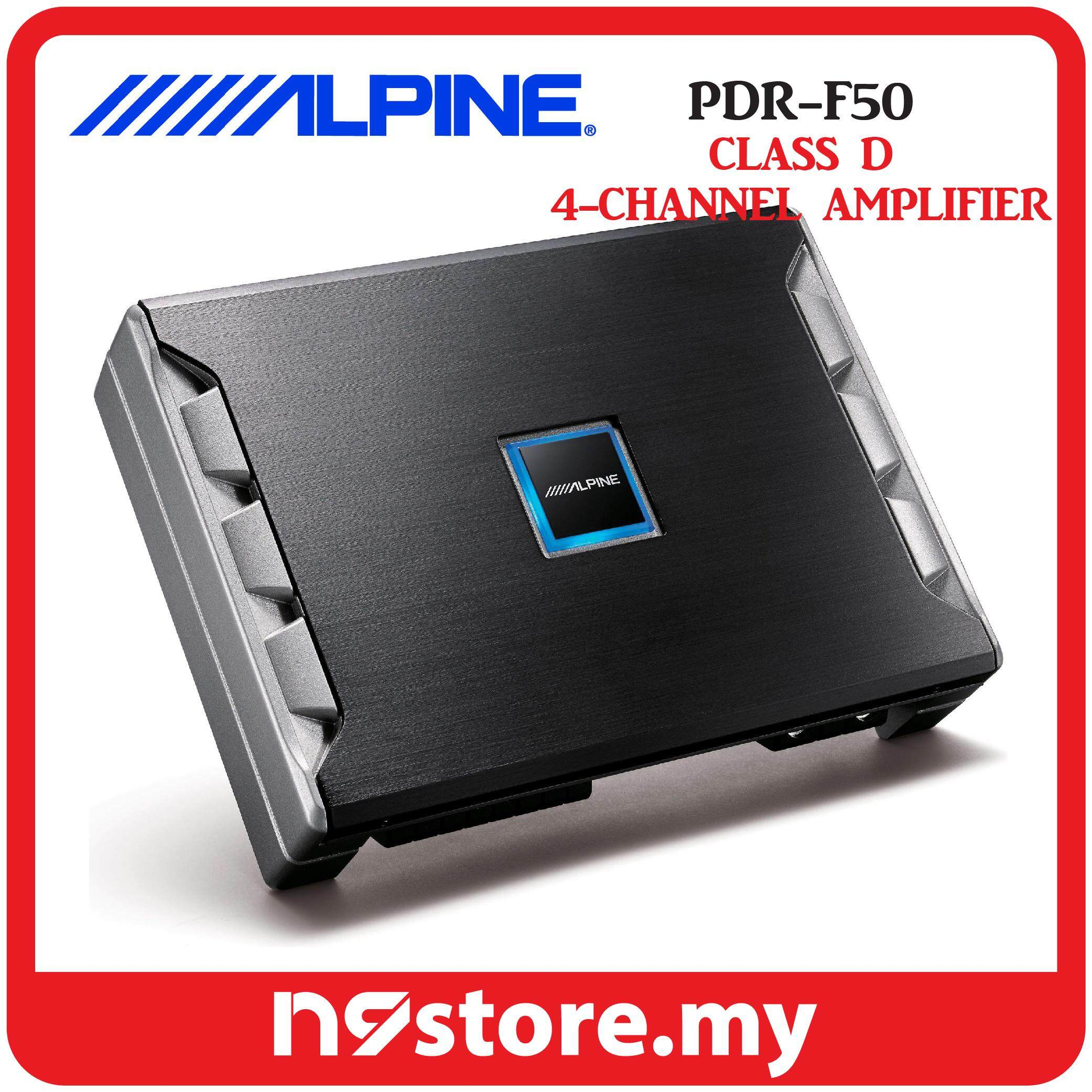 Alpine PDR-F50 PDR Series Class-D 4 Channel Amplifier 85W RMS X 4 At 4 OHMS