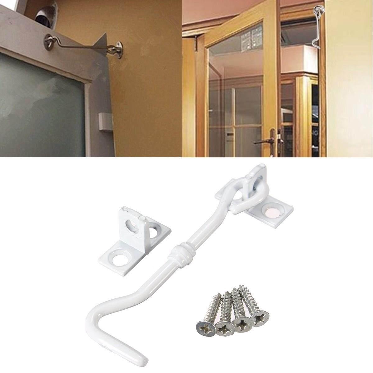 45pcs 3 Cabinet Door Showcase Holder Window Latch Hook & Eye Wind-Proof Silent Lock White - intl