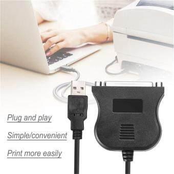 Harga preferensial Qnstar USB Hitam untuk 25 Pin DB25 Printer Paralel Kawat Kabel Adaptor Converter beli