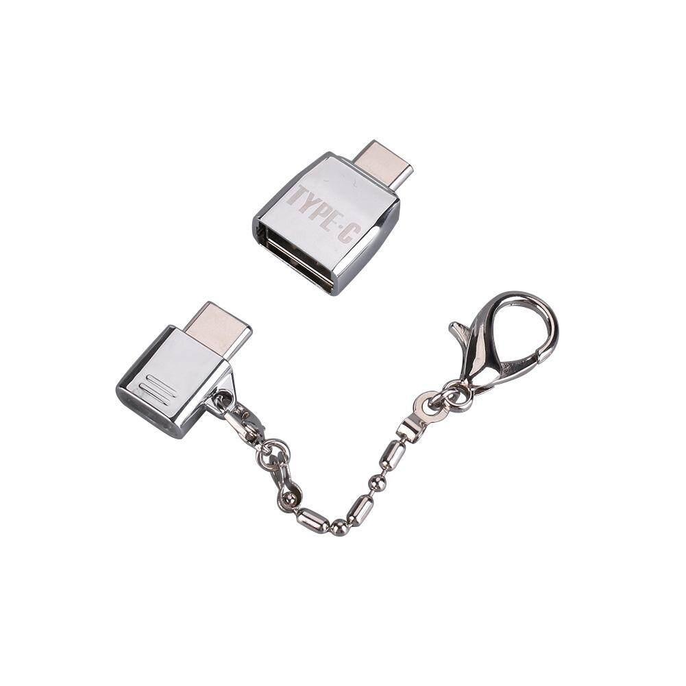 2 Pcs USB Tipe C Laki-laki Ke Mikro Usb & USB 2.0 Female Converter USB-C Adaptor
