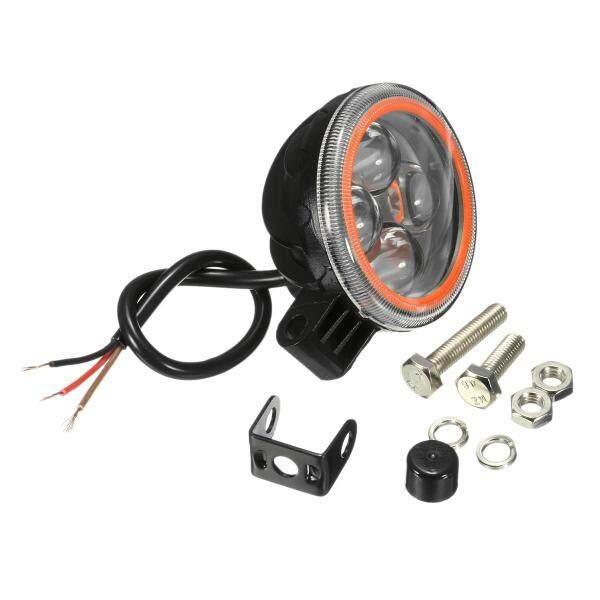 12V 6000K 4D Ống Kính RGB Bật Đèn Flash Làm Việc Ánh Sáng Đèn Pha Xe Máy Ô Tô