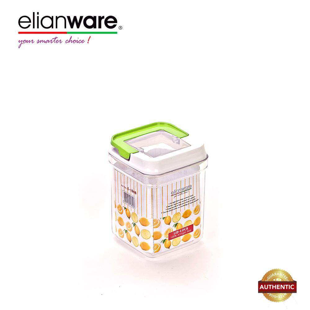 Elianware 1500ml Elegant Glass-Like Airtight Canister Clear Container Multipurpose Food Storage Keeper Box