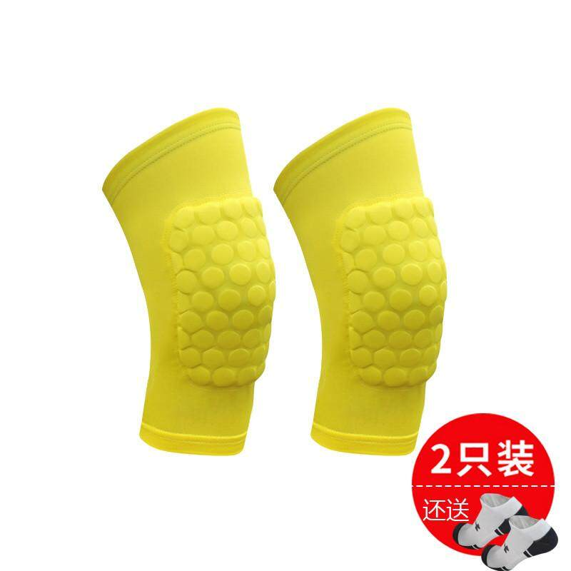 【Yellow two short paragraph small beat big yards】Owen basketball cellular knee pads light