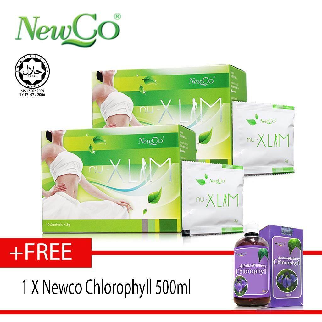 Newco Nu Xlim Slimming herbal Tea X 2 Boxes FREE NEWCO CHLOROPHYLL 500ml