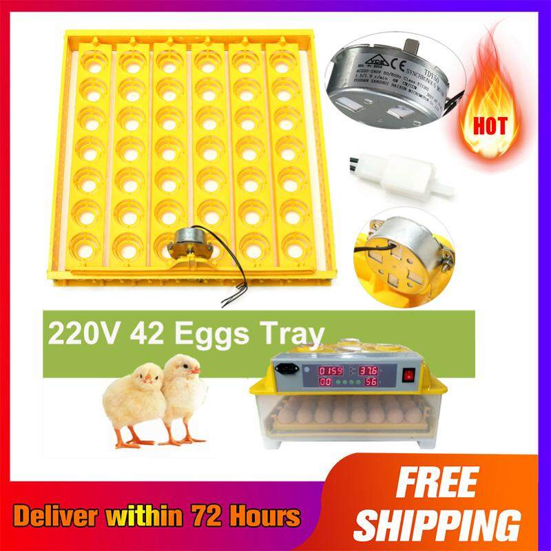 【 Free Shipping + Super Deal + Limited Offer】42 Egg Automatic Incubator Tray Digital Hatching Temperature Control 220v Yellow By Audew.