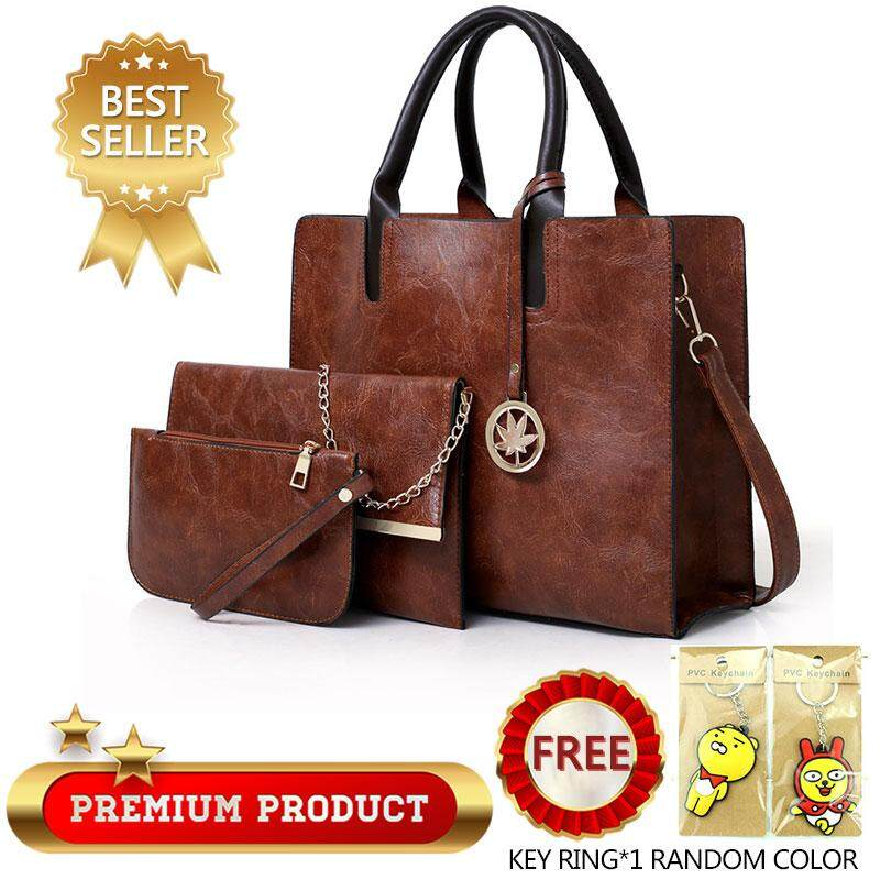 ENV ladies fashion mother bag PU handbags Europe and the United States simple big bag multi-piece package