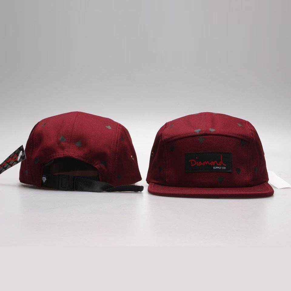 dbe4bcacd22 Popular  Fashion Design 20 Style Five 5 panel diamond snapback caps hip hop  cap flat hat