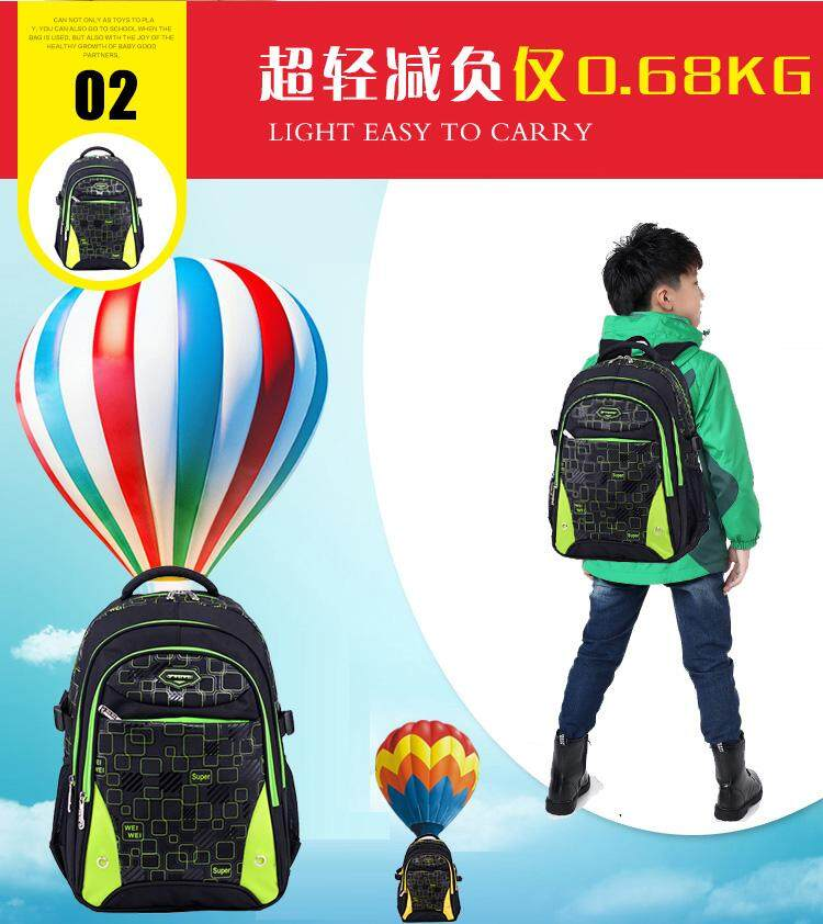 Ocean Blue Super Light Kids Primary School Bag